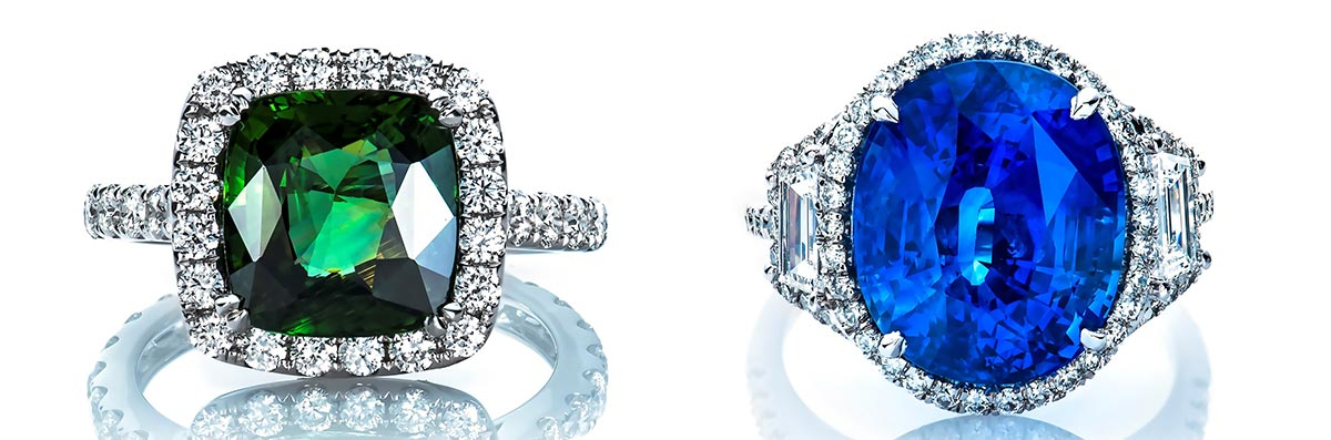 Colored Engagement Rings in Houston