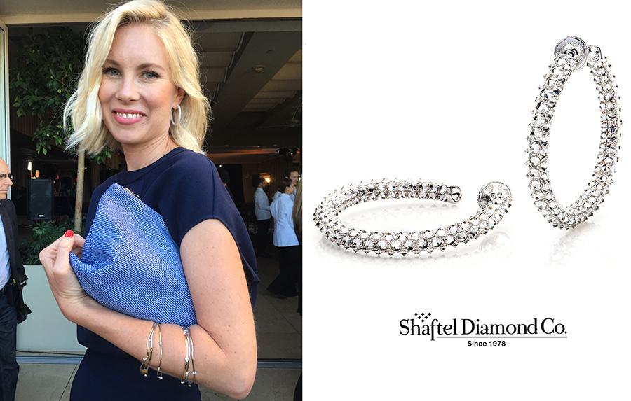 Elspeth Scott wearing Shaftel Diamond Co. Earrings